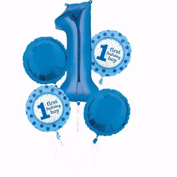 Bouquet Set Folienballon Birthday Boy 1 Geburtstag