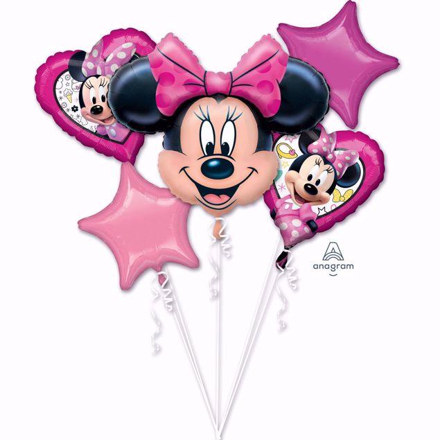 Picture of Folienballon Bouquet Set Minnie Mouse Geburtstag
