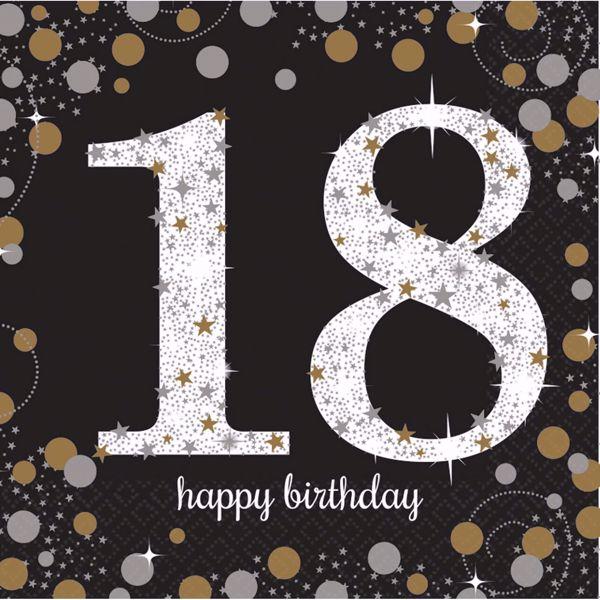 Bild von 16 Servietten 18 Sparkling Celebration - Silver & Gold 33 x 33 cm