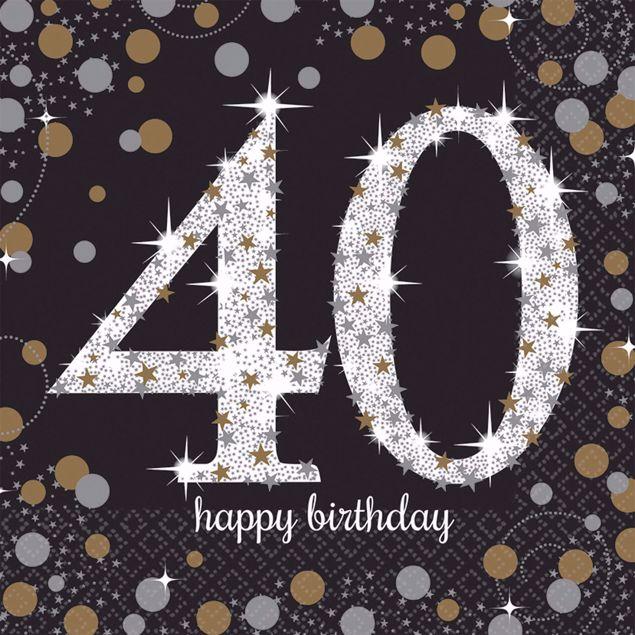 Bild von 16 Servietten 40 Sparkling Celebration - Silver & Gold 33 x 33 cm