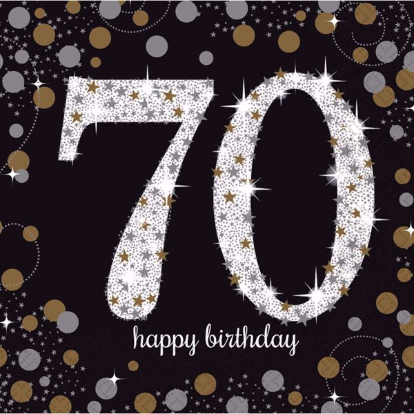 Bild von 16 Servietten 70 Sparkling Celebration - Silver & Gold 33 x 33 cm