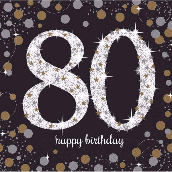 Picture of 16 Servietten 80 Sparkling Celebration - Silver & Gold 33 x 33 cm