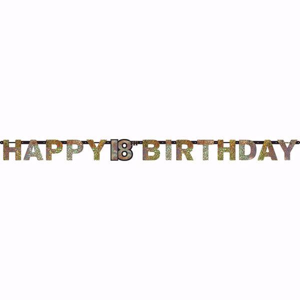 Bild von Partykette 18 Sparkling Celebration - Silver & Gold prismatisch