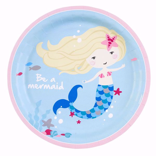 Picture of 8 Teller Be a Mermaid Papier rund 22,8 cm