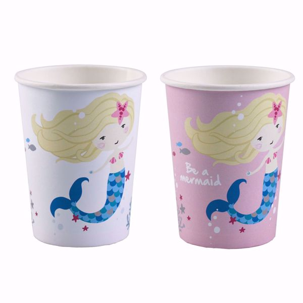 Picture of 8 Becher Be a Mermaid Papier 250ml