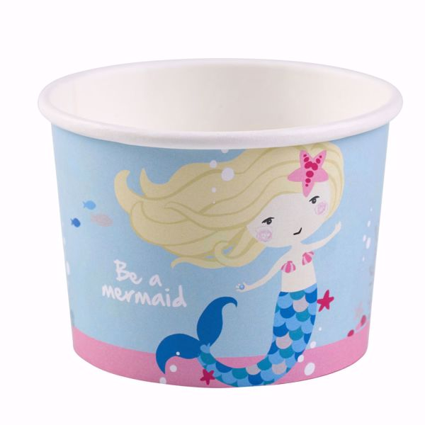 Picture of 8 Eisbecher Be a Mermaid Papier 270 ml