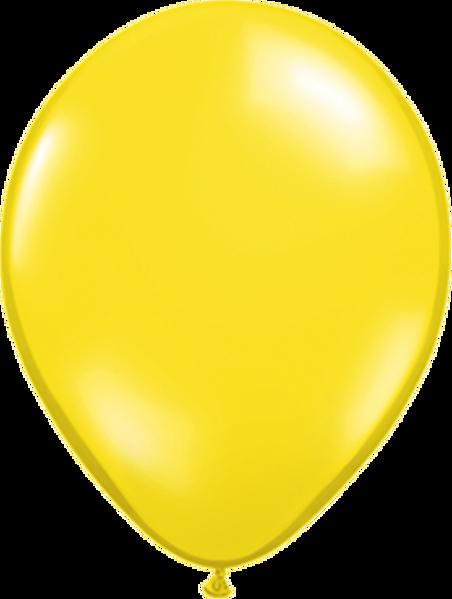 "Picture of Latexballon Rund Qualatex Kristall Gelb (Transparent)  27,5 cm/11"""