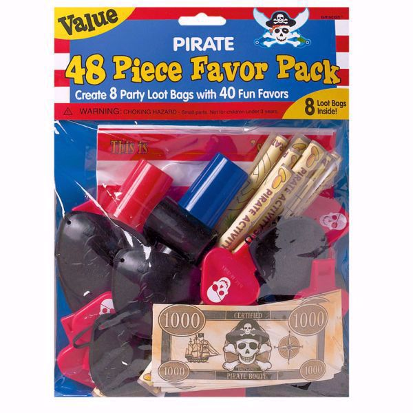 Picture of Partygeschenke-Set Pirates Treasure 48-teilig