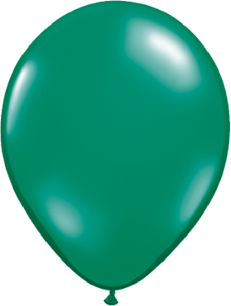 "Picture of Latexballon Rund Qualatex Kristall Grün (Transparent) 27,5 cm/11"""