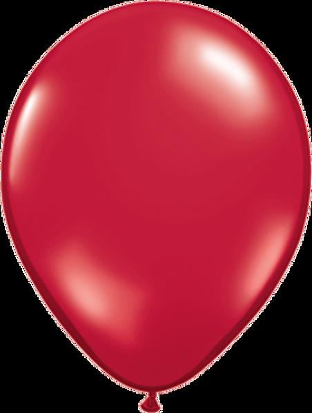 """Bild von Latexballon Rund Qualatex Kristall Rot (Transparent) 27,5 cm/11"""""""