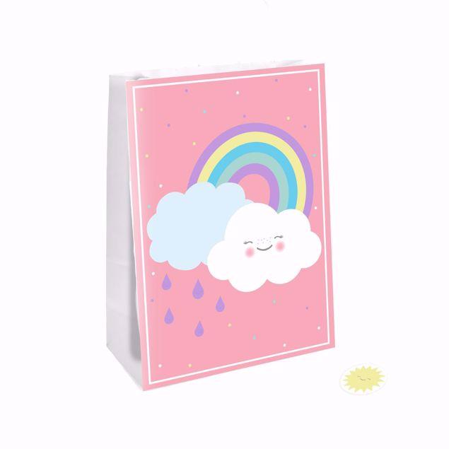 Bild von Papiertüten Rainbow & Cloud