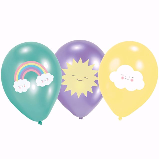 """Bild von Ballons Rainbow & Cloud 27,5cm/11"""""""