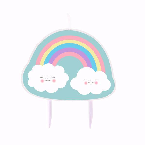 Picture of Geburtstagskerze Rainbow & Cloud