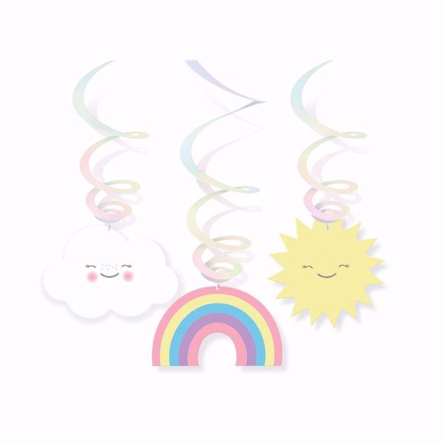 Picture of 6 Dekospiralen Rainbow & Cloud