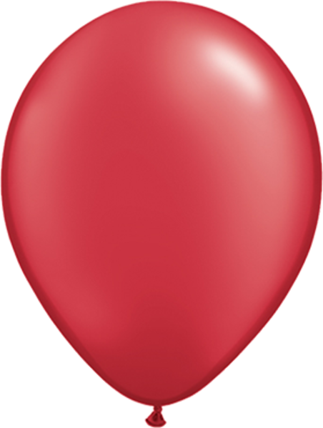 "Bild von Latexballon Rund Qualatex Pearl Rot 27,5 cm/11"""