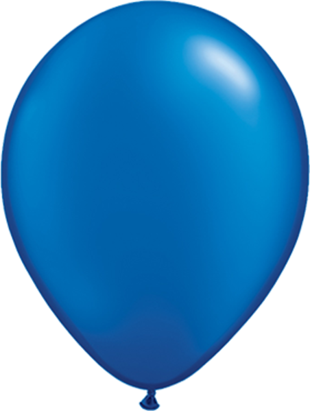 Picture of Latexballon Rund Qualatex Pearl Mittelblau 27,5 cm/11""