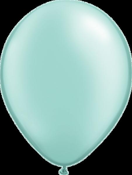 "Picture of Latexballon Rund Qualatex Pearl Mint Grün 27,5 cm/11"""