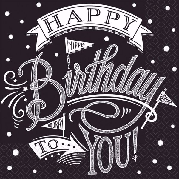 Bild von MULTIPACK 36 Servietten Hooray It's Your Birthday 25 x 25 cm