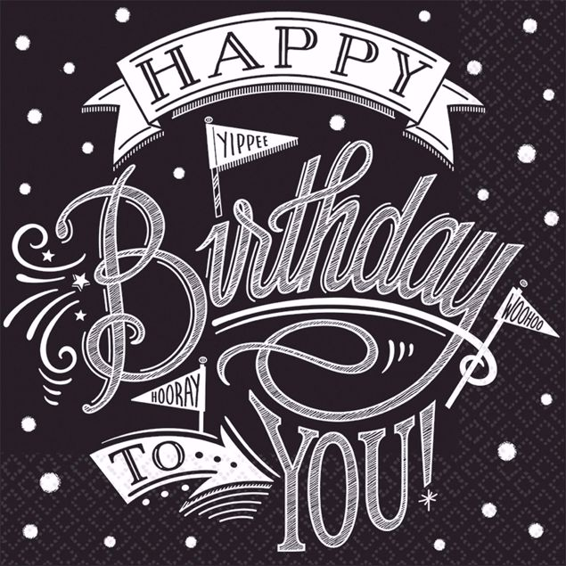 Bild von MULTIPACK 36 Servietten Hooray It's Your Birthday 25 x 25 cm