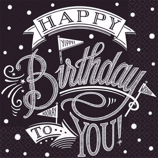 Bild von MULTIPACK 36 Servietten Hooray It's Your Birthday 33 x 33 cm