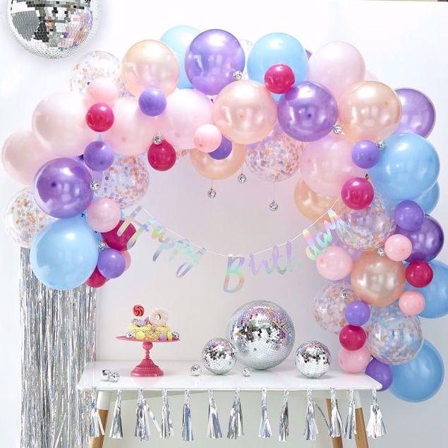 Bild von Pastel Ballongirlanden Set