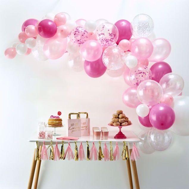 Bild von Pink Ballongirlanden Set