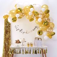 Picture of Gold Ballongirlanden Set