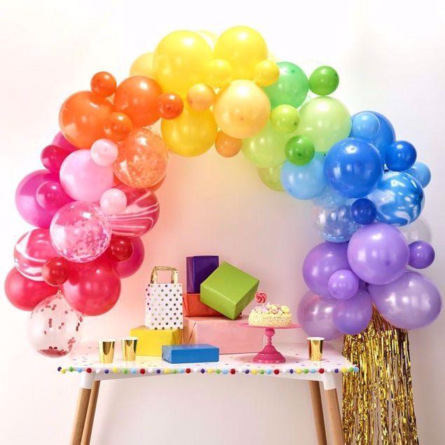 Bild von Regenbogen Ballongirlanden Set