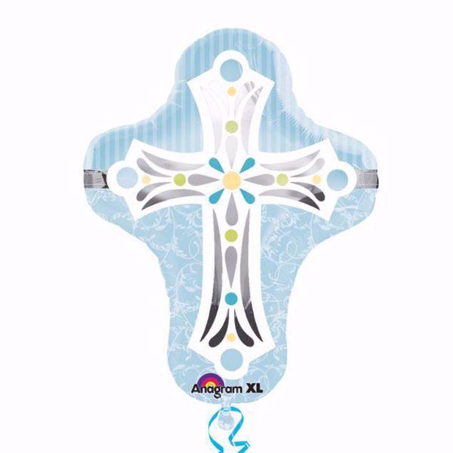 Bild von SuperShape Kommunion Konfirmation Taufe Kreuz Blau