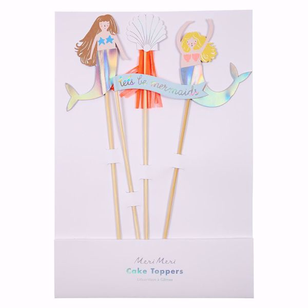 Picture of Meerjungfrau Cake Topper - Let's Be Mermaids Cake Toppers