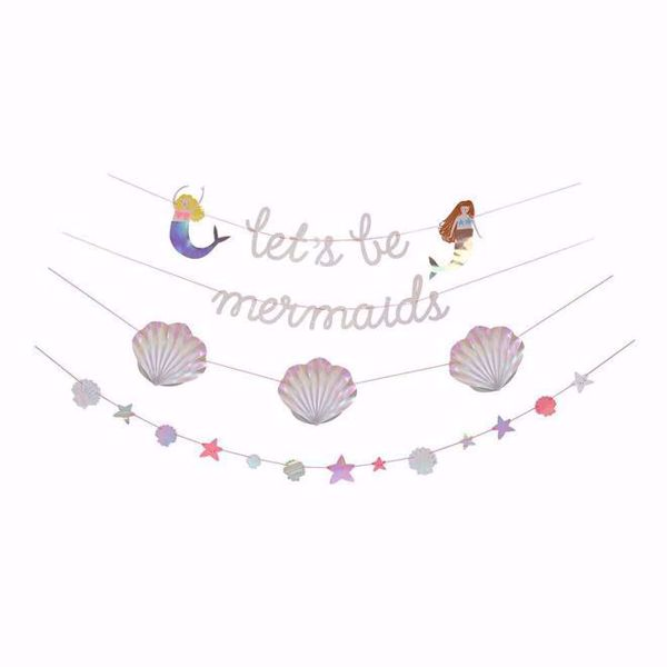 Picture of Meerjungfrau Girlande - Let's Be Mermaids Garland 4 x 2,4 m