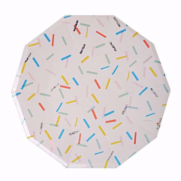 Bild von Streusel Partyteller - Sprinkles Plates large 23cm x 23cm
