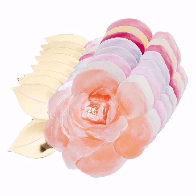 Bild von Rosen Garten Party Teller - Rose garden party plates Pastell
