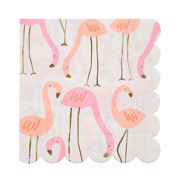 Picture of Flamingo Servietten Groß - Flamingo Napkins large 16,5 cm x 16,5 cm