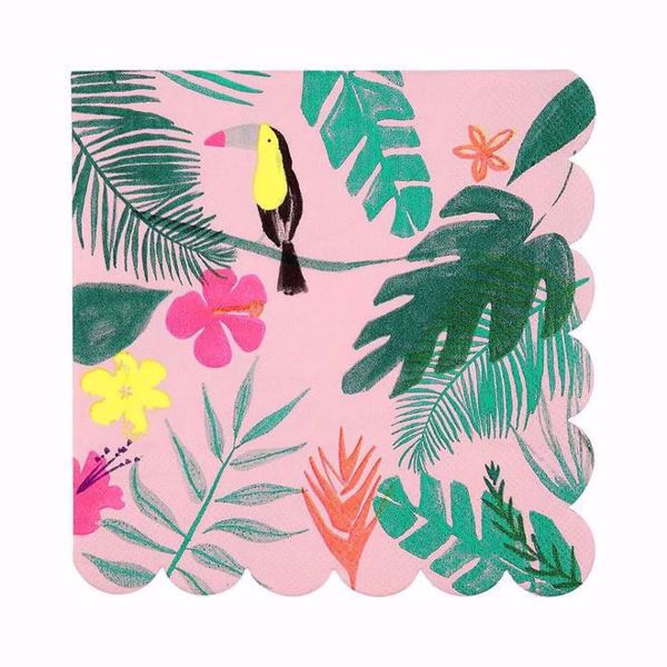 Picture of Pink Tropical Servietten Napkins 16,5 cm x 16,5 cm