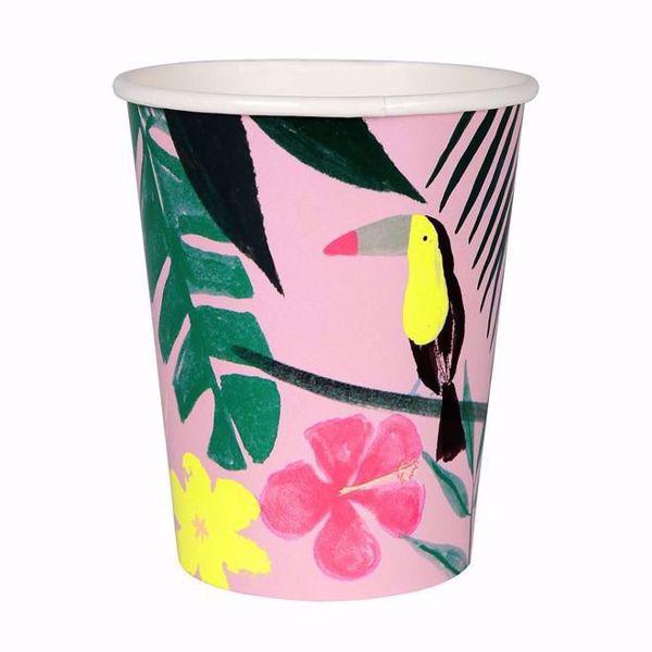 Bild von Pink Tropical Partybecher 260 ml