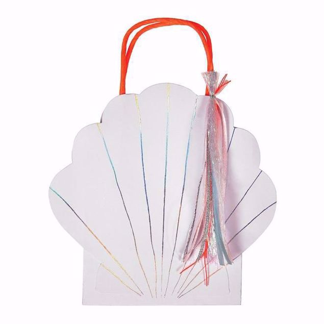 Bild von Muschel Party Tüten - Shell Party bags 16,5 cm x 21,5 cm