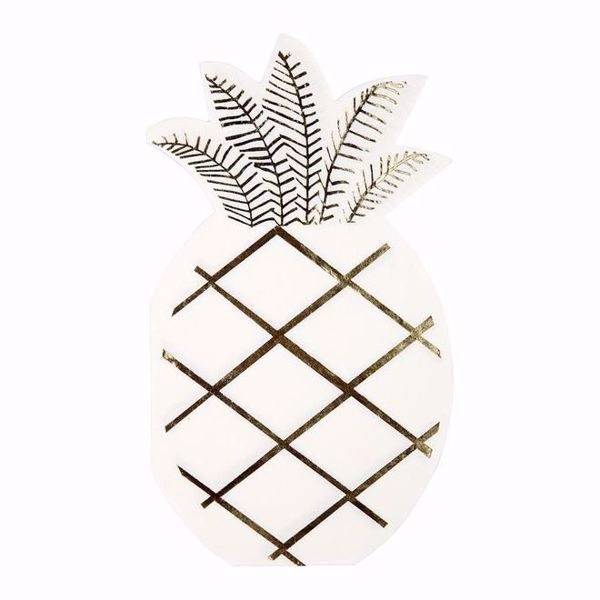 Bild von Ananass Servietten - Pineapple Napkins 10 cm x 18 cm