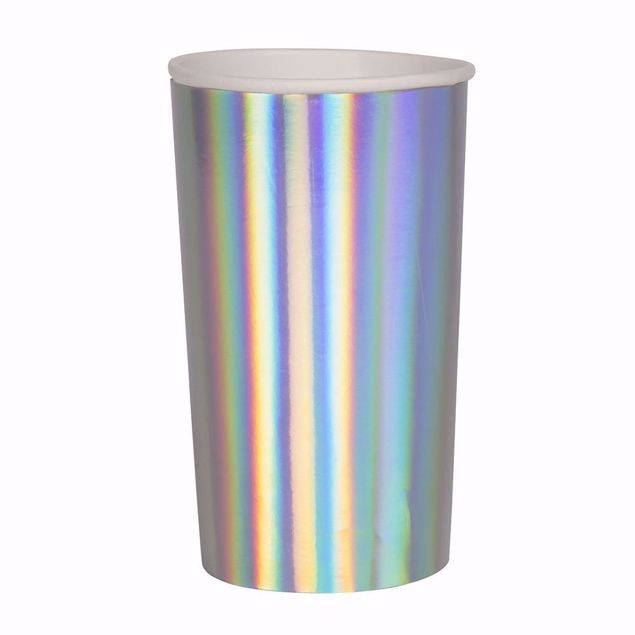 Picture of Silber Holographic Partybecher Party cups 200 ml
