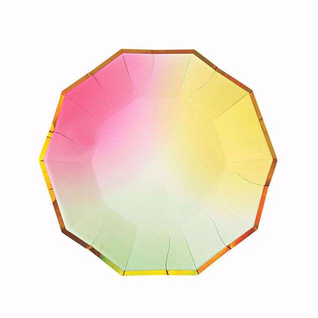 Picture of Ombre Partyteller Plates 18,5 cm x 18,5 cm