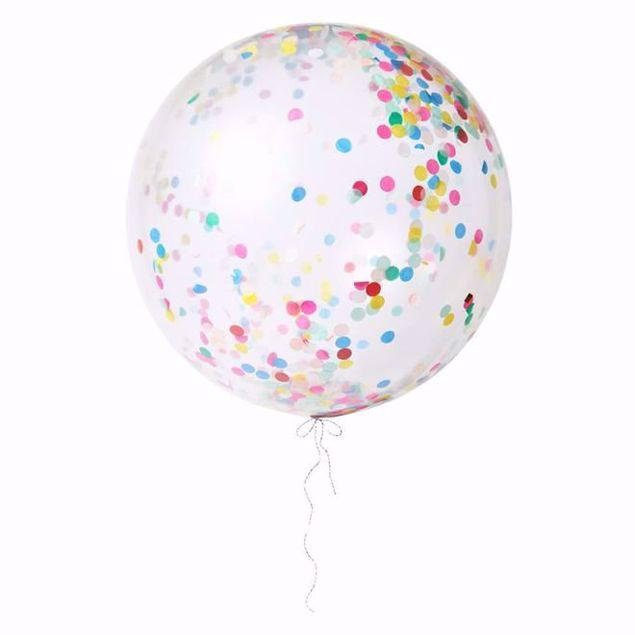 Picture of Riesenballon Bunt Konfetti Set Kit 3 Stück