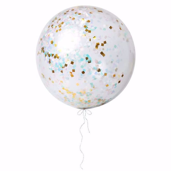 Picture of Riesenballon Iridescent Konfetti Set Kit 3 Stück DO IT YOURSELF