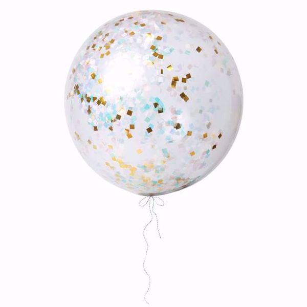 Picture of Riesenballon Iridescent Konfetti Set Kit 3 Stück