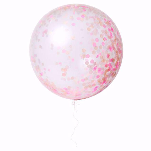 Picture of Riesenballon Pink Konfetti Set Kit 3 Stück