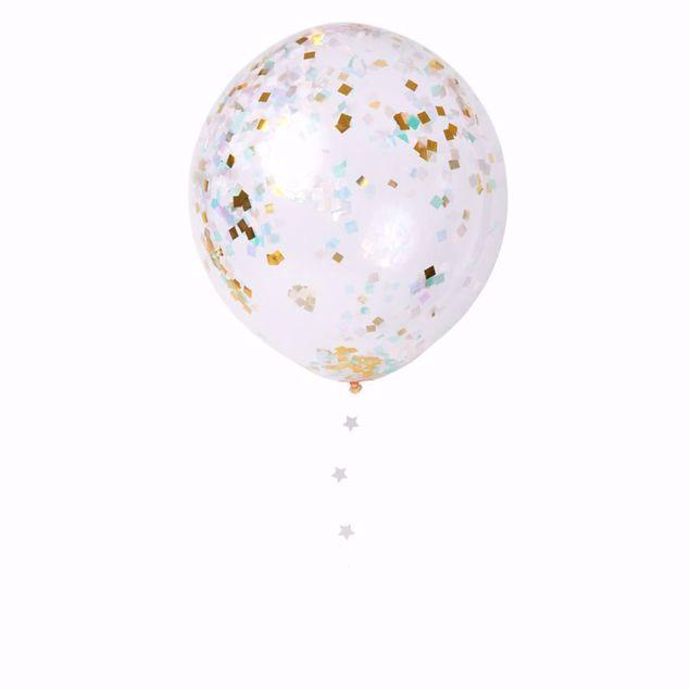 Picture of Latexballon Iridescent  Konfetti Set Kit 8 Stück