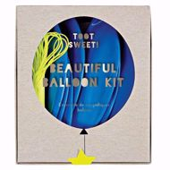 Picture of Latexballon Set Kit Blau Glitter Sterne 8 Stück