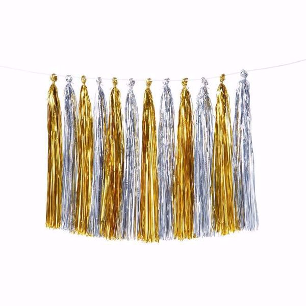 Picture of Girlande Tassel Gold Silber
