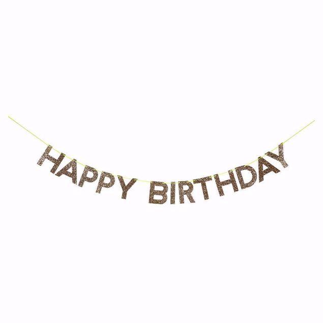 Bild von Girlande Happy Birthday Gold Garland