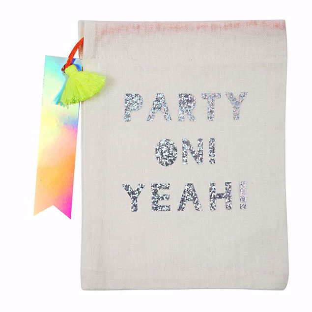 Bild von Geschenktüten Give away Party On Glitzer 15cm x 20cm