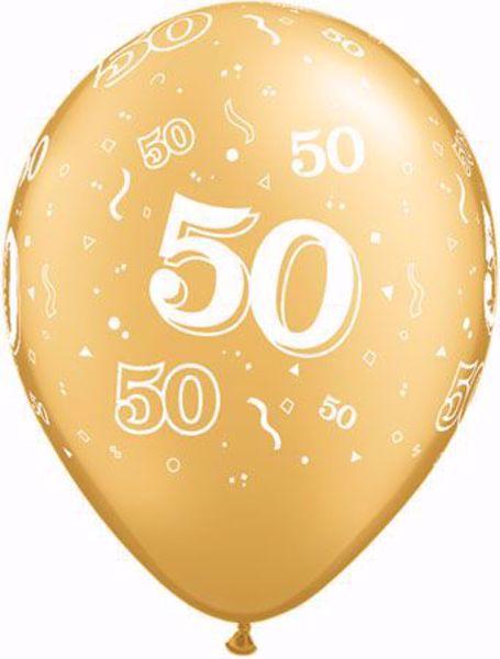 Latexballon 50 Geburtstag Goldene Hochzeit Gold 11 Inch